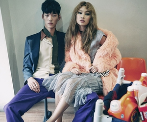 couple, jung ho yeon, and silver dress image