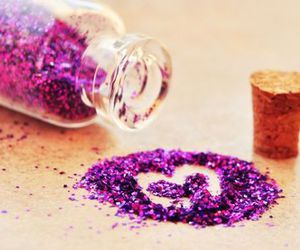 glitter, purple, and sparkle image