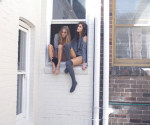 girl, friends, and window image