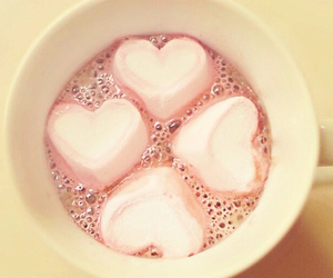heart, pink, and marshmallow image