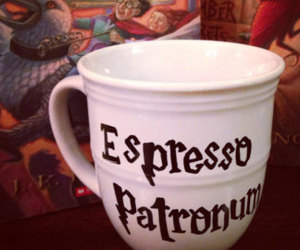 harry potter, mug, and patronum image