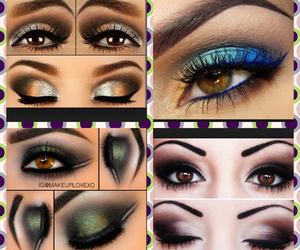 brown, eyes, and makeup image