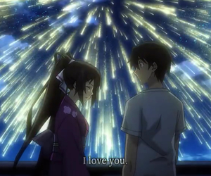 anime, couple, and date image
