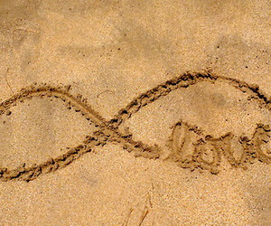 beach, sand, and infinity image