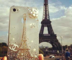 paris, iphone, and chanel image