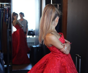 ariana grande, red, and ariana image