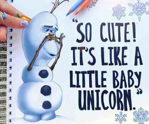 frozen, olaf, and unicorn image