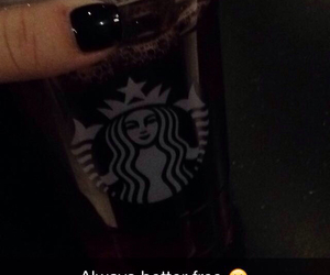 free, friends, and starbucks image