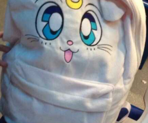 backpack, sailormoon, and white image