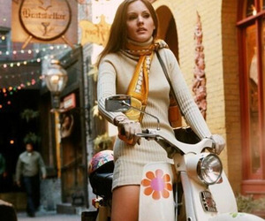 60's, scooter, and girl image