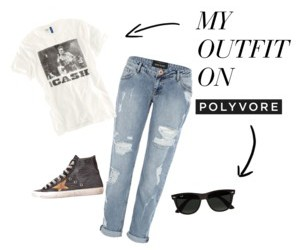 boyfriend, jeans, and glasses image