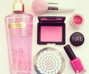 pink, nars, and makeup image