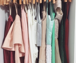 closet, clothes, and pastel image