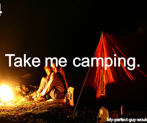 camping, wish, and love image