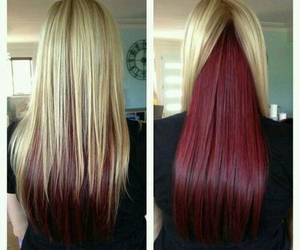 hair, red, and blonde image