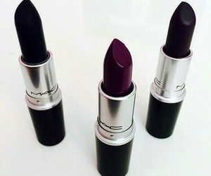 lipstick, mac, and black image