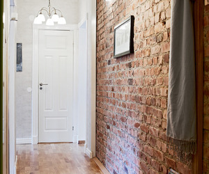 interior, brick, and room image