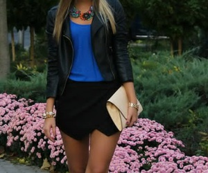 black, blue, and fashion image