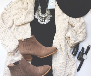 ankle boots, fall, and fedora image