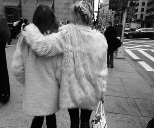 fashion, friends, and black and white image