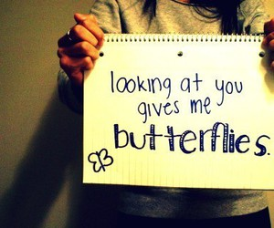 butterfly, love, and quote image