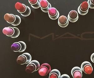 mac, lipstick, and heart image