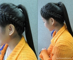 braid, pony, and crown image