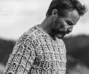 beard, knit, and man image