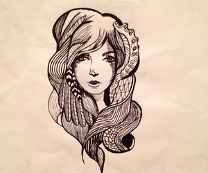 cool, drawing, and girl image