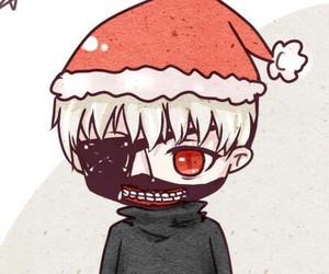 christmas, tokyo ghoul, and kaneki image