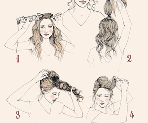 curls, poof, and fashion image
