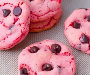 pink, chocolate, and Cookies image