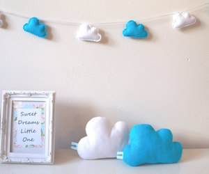 boy, bunting, and cloud image