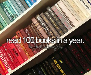100, books, and bucket list image