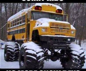 funny, school, and snow image