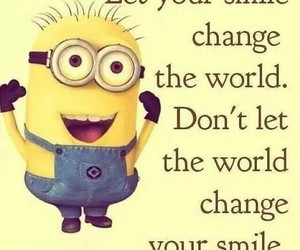 minions, smile, and quotes image