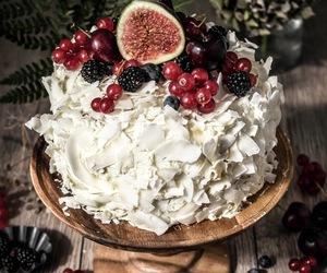 cake, coconut, and sponge cake image