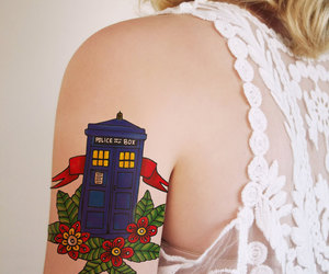 doctor who, tardis, and tattoo image