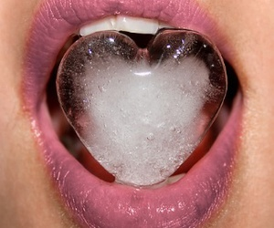 lips, heart, and ice image