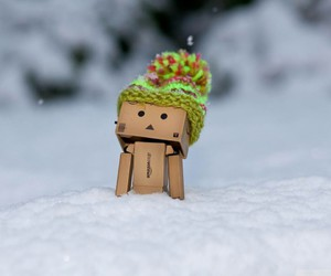 snow, danbo, and winter image