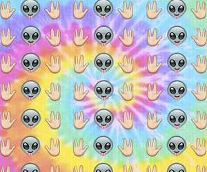 alien, wallpaper, and emoji image