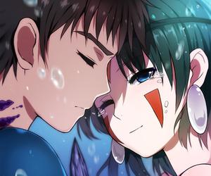 anime, couple, and princess mononoke image