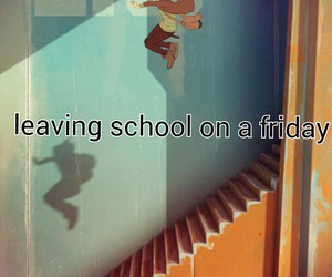 friday, funny, and school image