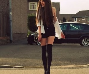 girl, fashion, and skinny image