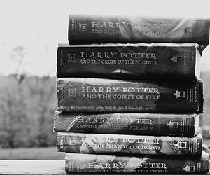 book, harry potter, and black and white image