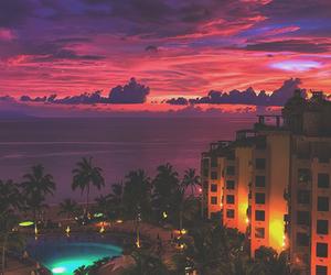 beautiful, pool, and sky image