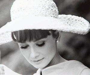 audrey hepburn, hat, and vintage image