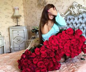 girl, love, and rose image