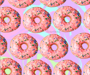 donuts, hipster, and pattern image