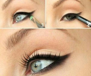 makeup, eyeliner, and eye image
